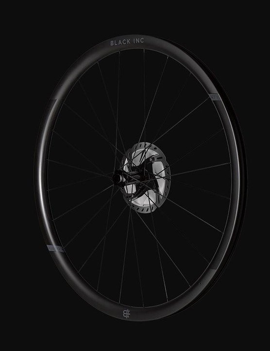 Factor's component wing Black Inc has released a tubeless-ready wheelset for the bike