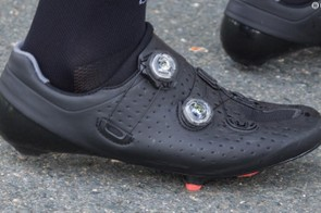 The unbranded new shoe seen on John Degenkolb at Criterium du Dauphine