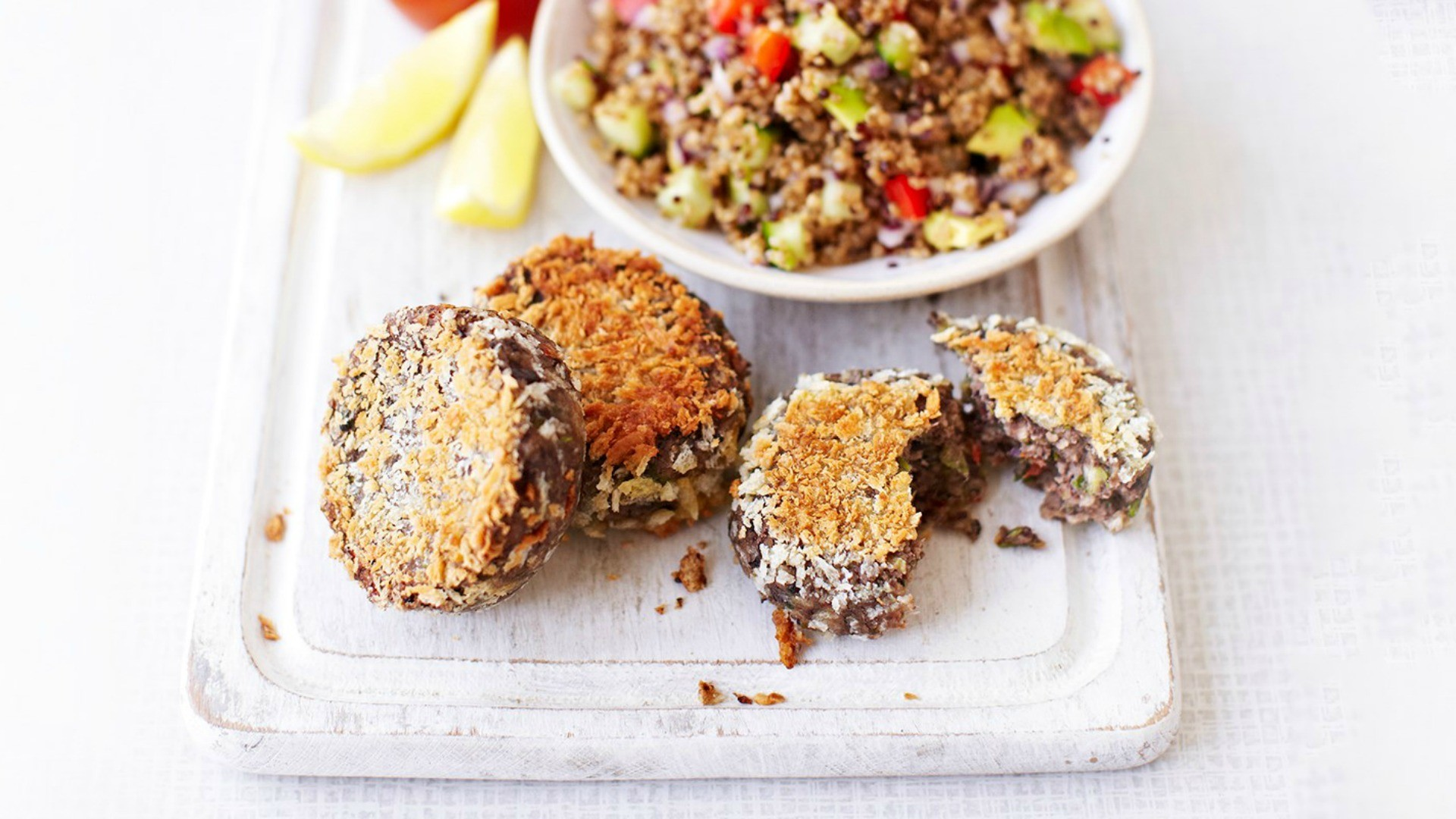 Rich, tasty and warming, these bean cakes are great for cold, wet evenings