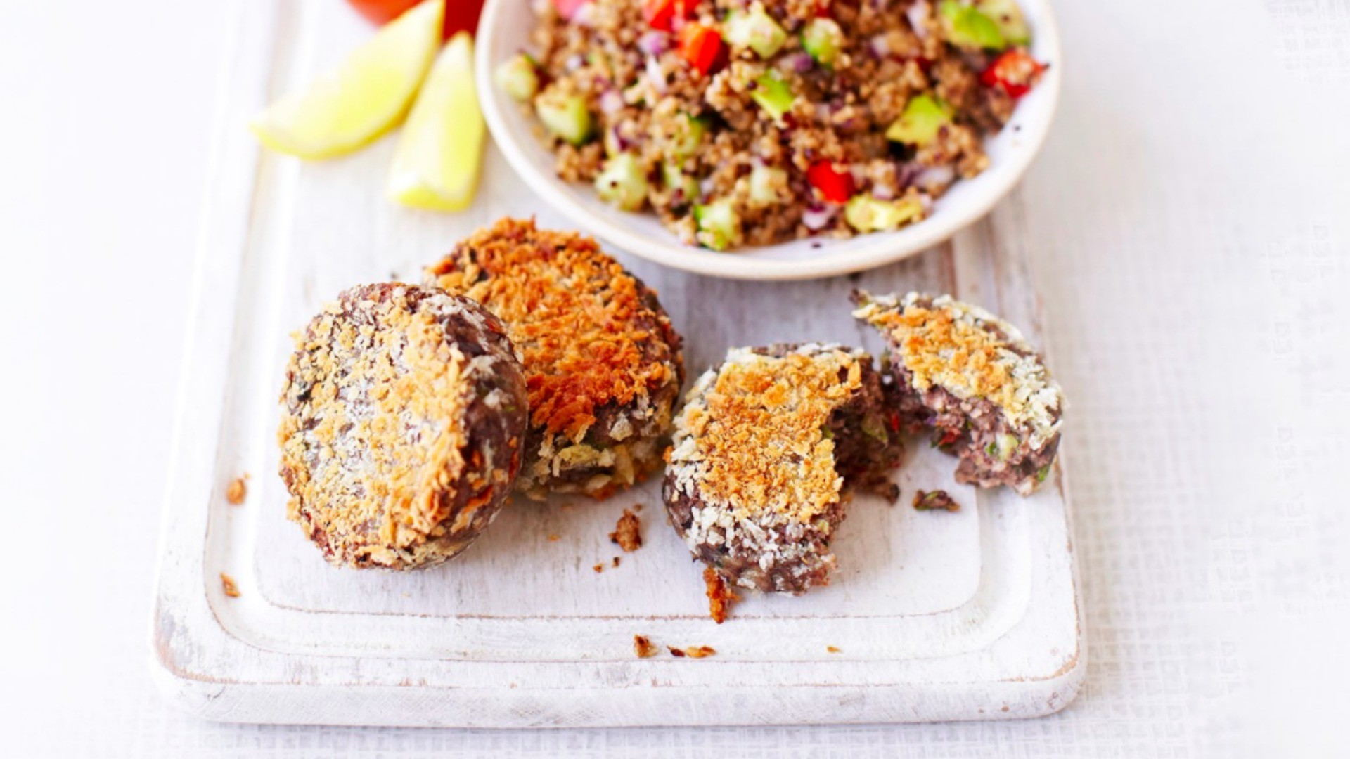 Whip up a batch of these black bean cakes in advance and have something ready to much on for those post-ride hunger pangs