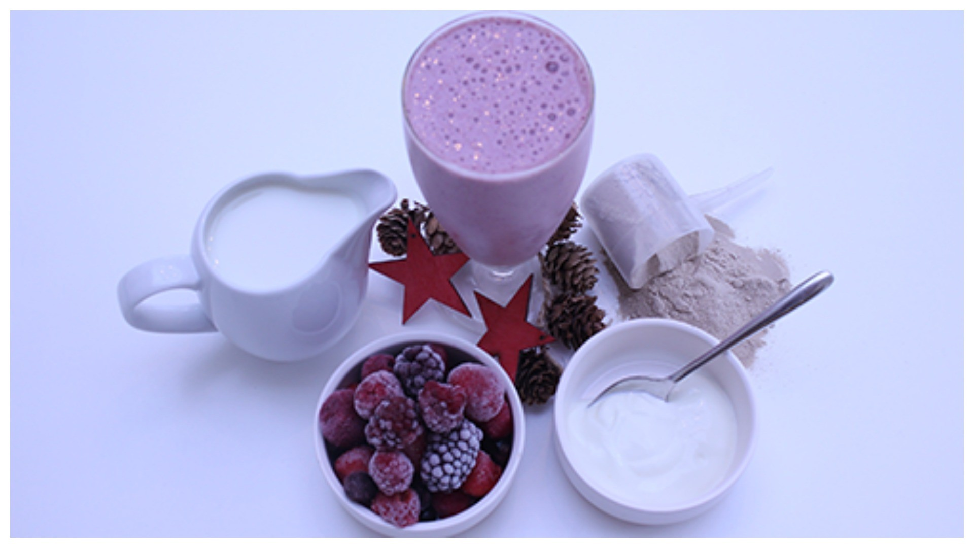 This recipe also gives you an antioxidant hit with the tasty frozen berries it contains