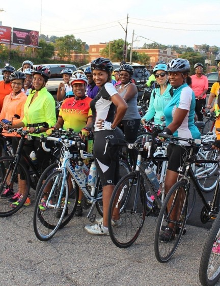 Black Girls Do Bike: Pittsburgh and members Of Pittsburgh Major Taylor Cycling Club
