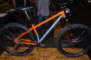Black Cat's 27.5+ bike could have won Best Finish. The paint is stunning in person