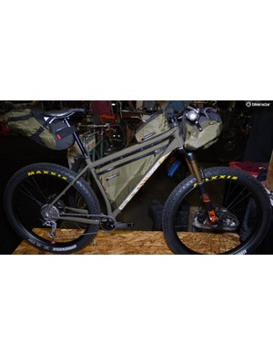 Best in Show went to Black Cat's Todd Ingermanson for his exceptional 27.5+ bikepacking bike. It was built for Velorution Cycles owner Joey Ernst. The shop in Durango recently partered with Bedrock Bags and they made special, bolt-on frame and top tube bags for the bike