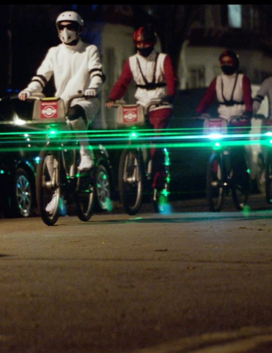 The current challenge for the Blaze team is fitting their Laserlights into London's Santander Cycles
