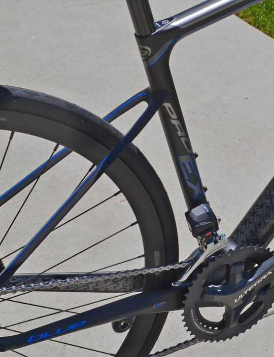 The pencil-thin seatstays attach low on the seat tube for smooth compliance