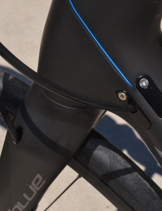 Tidy cable ports look clean and ensure future compatibility with new drivetrains