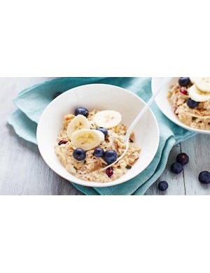 Prep this bircher muesli the night before and enjoy a low-stress start to race day