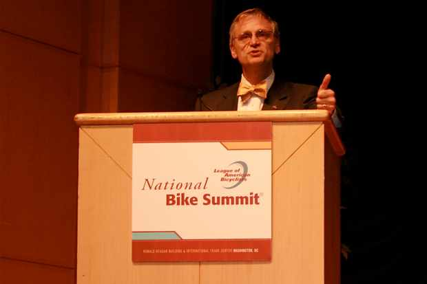 Congressman Earl Blumenauer (D - OR) speaks at the National Bike Summit.