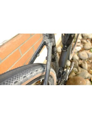 Clearance for 34mm tyres, as fitted, and mounts for a rack