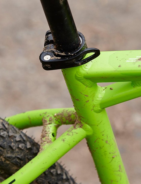BMC has gone for a distinctively horizontal top tube to increase the triangulation and stiffness of the big-tubed frame