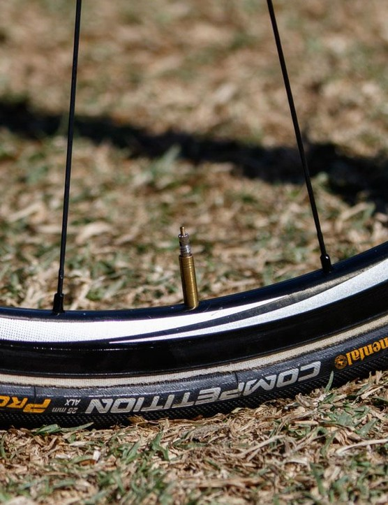 Ultra shallow Shimano C24 wheels are Porte's choice for the climbing stages based on the ultra low rotating weight