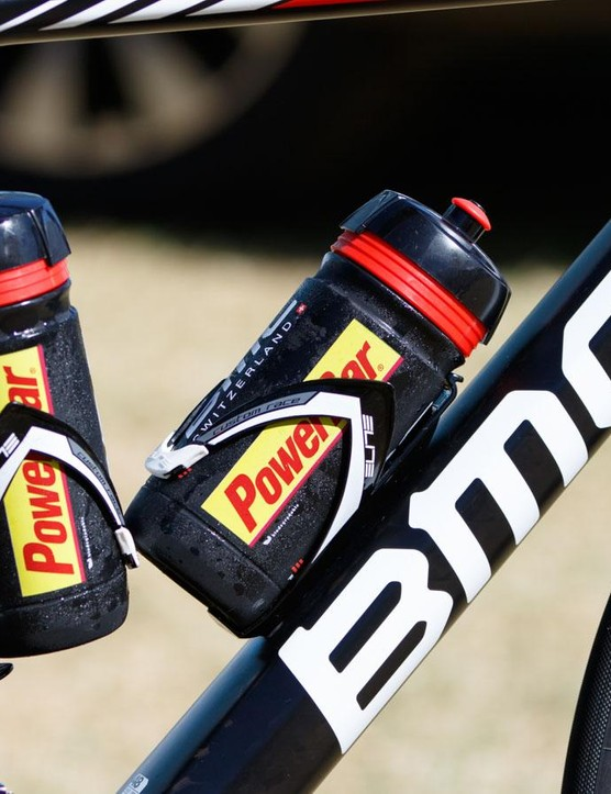 BMC use bottle cages from Elite. These are actually the rather basic 'Custom Race' resin cage