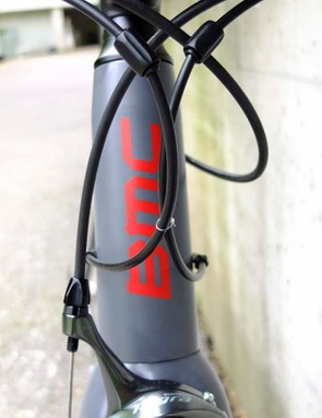 The head tube shares the SLR01's tapered top