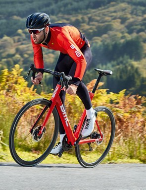 Over rolling terrain the SLR01 is rapid, and I mean aero-road bike quick