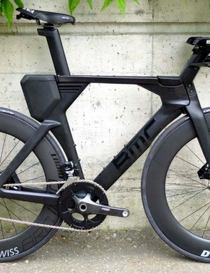 The new BMC Timemachine 01 Disc TT and triathlon bike — here in triathlon configuration