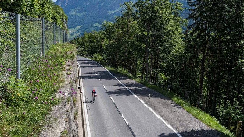 There isn't very much flat riding in Switzerland, but the climbs are worth it