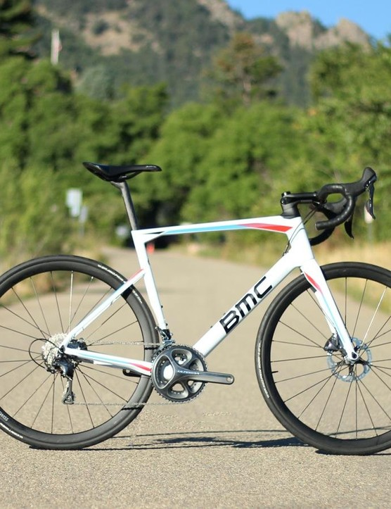 The BMC Roadmachine 01 sits halfway between the Teammachine race bike and the Granfondo endurance rig in terms of stiffness