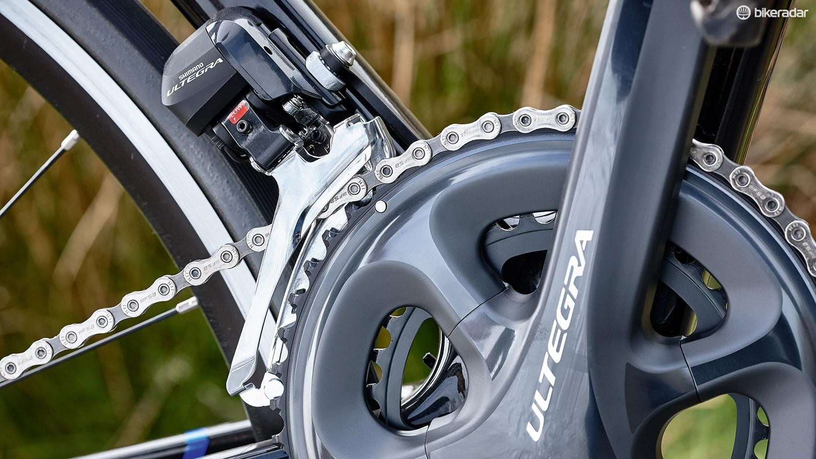 The inclusion of electronic Ultegra Di2 is great for a bike at this price