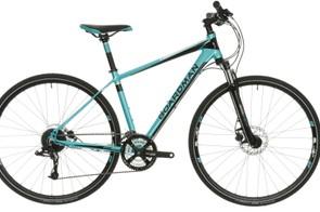 Boardman's MX Sport women's specific hybrid bike with front suspension
