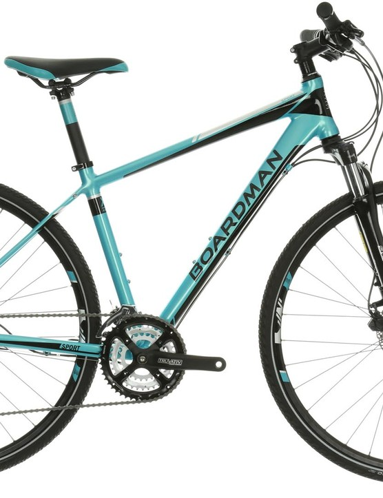 Boardman's MX Sport women's specific hybrid bike with front suspension
