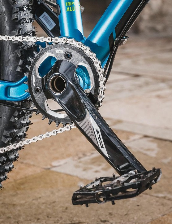 An FSA crank joins the SRAM GX transmission