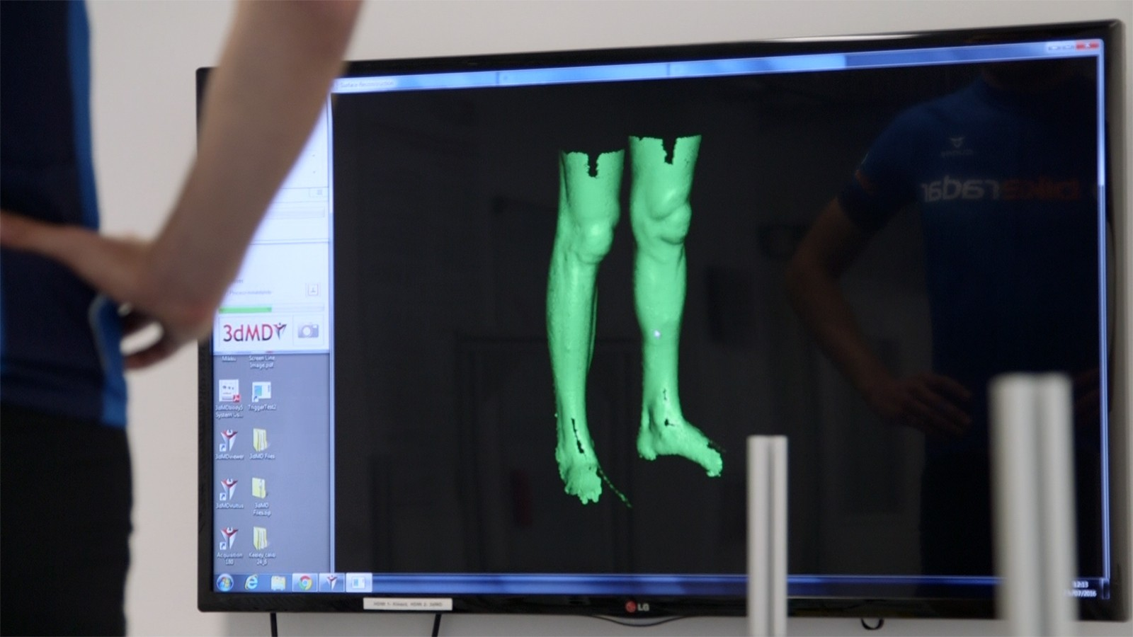 Body scanning creates a highly detailed model of a rider's legs and tracks changes over time