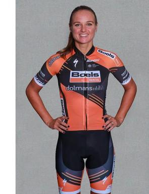 Chantal Blaak wears the 2019 Boels Dolmans kit