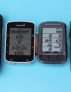 The original Elemnt (right) is pretty chunky, similar in size to the massive Garmin Edge 1000. The new Elemnt Bolt is similar in form to the Edge 520 (and 820)