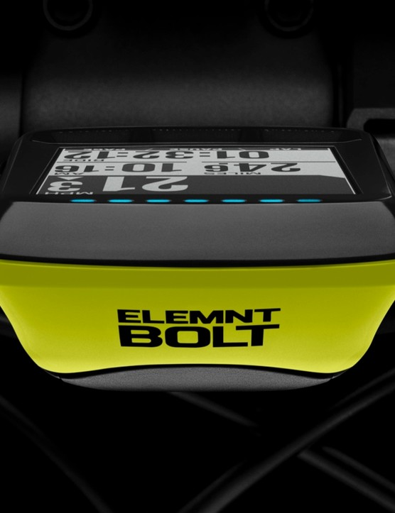 The Bolt has configurable LEDs to indicate navigation or target speed/power/heart rate settings