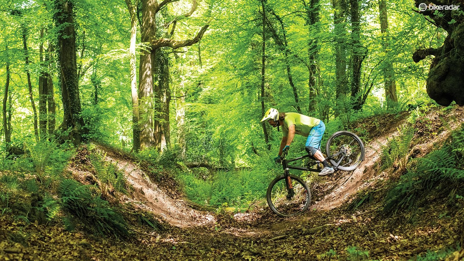 Riding natural bowls is all about getting your speed right