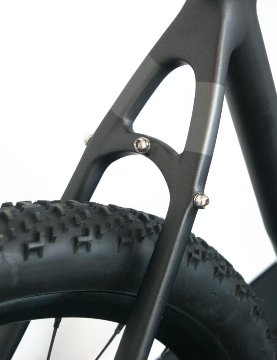 This has the most bosses I've ever seen on a carbon frame