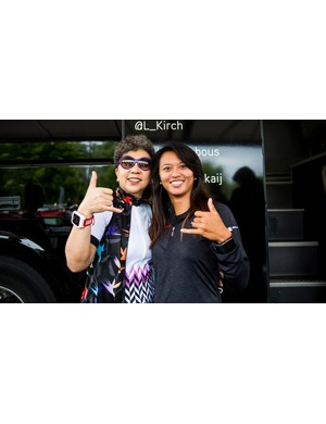 Bonnie Tu, left, is one of the most influential people in the bike industry