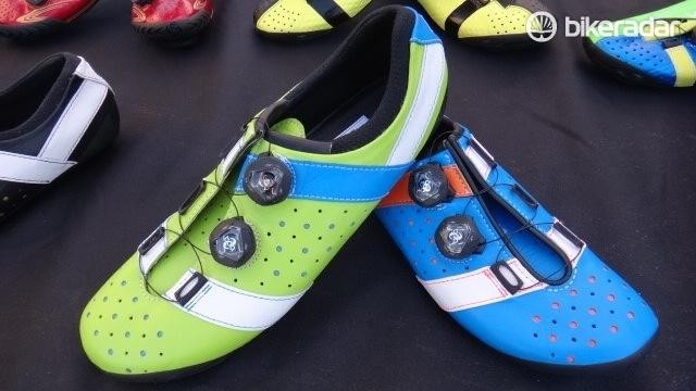 Australian shoe maker Bont showed off its new super premium sportif shoe, the Vapor +. At $459, these kangaroo leather kicks are not in any way cheap. Embroidered details, a heat-moldable features top this no-holds barred set of kicks.