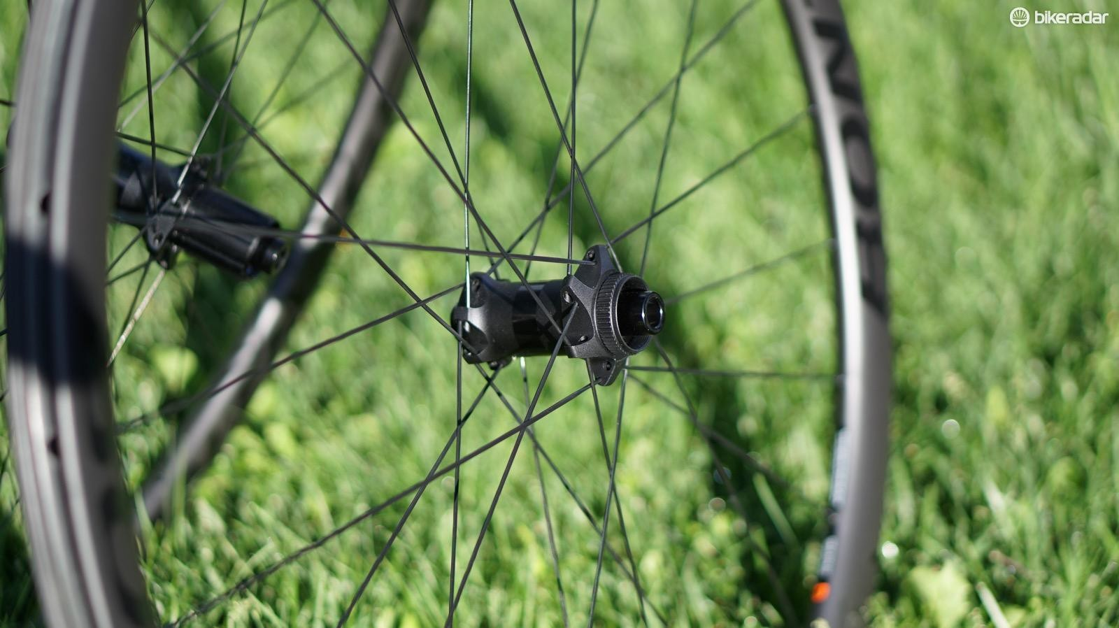 For the Pro 3 Disc, Bontrager doesn't get cute, opting for 2x lacing front and rear