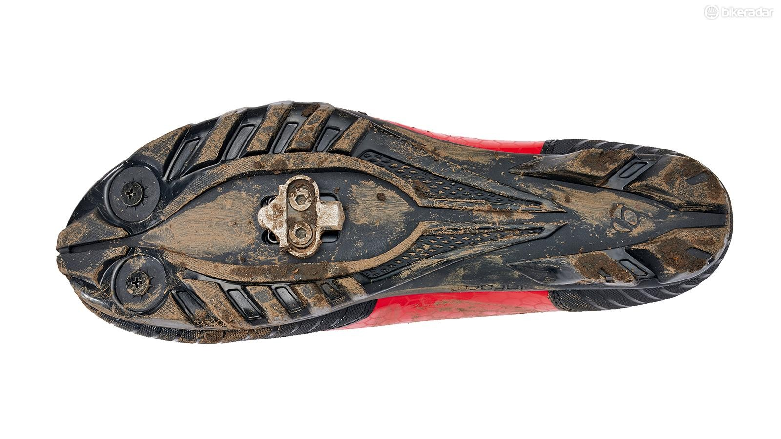 The nylon composite sole has a 6/10 on Bontrager's stiffness index