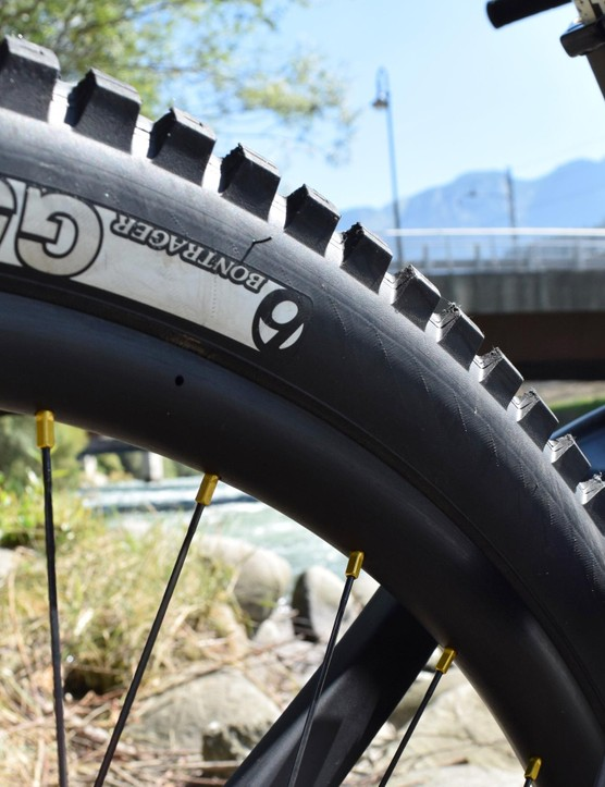 Bontrager G5 tyres should offer plenty of grip in the dust
