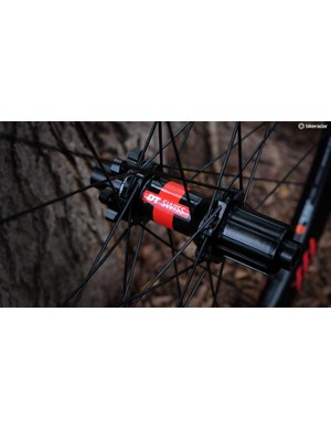 Bontrager's top-end wheelset rolls on the ever-reliable DT Swiss 240 hubs with an upgraded 54t ratchet