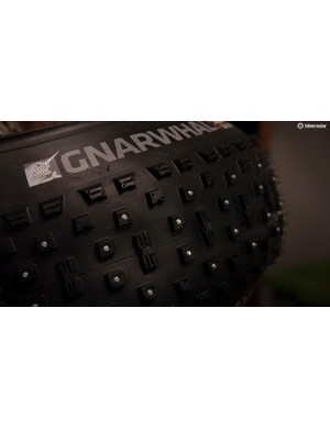 How do you make an aggressive fat bike tire more gnarly? Well, adding 160 tungsten studs to the Gnarwhal tire clearly adds a lot more gnar, not to mention more bite in icy conditions