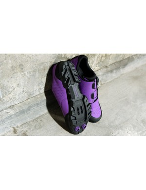 A chunky sole is designed to add plenty of grip off the bike
