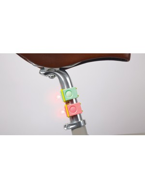 Bookman Lights easily mount to seatposts and handelbars
