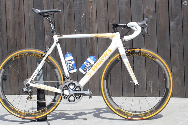 Boonen's new Specialized Roubaix race bike with a pro-only frameset and spring