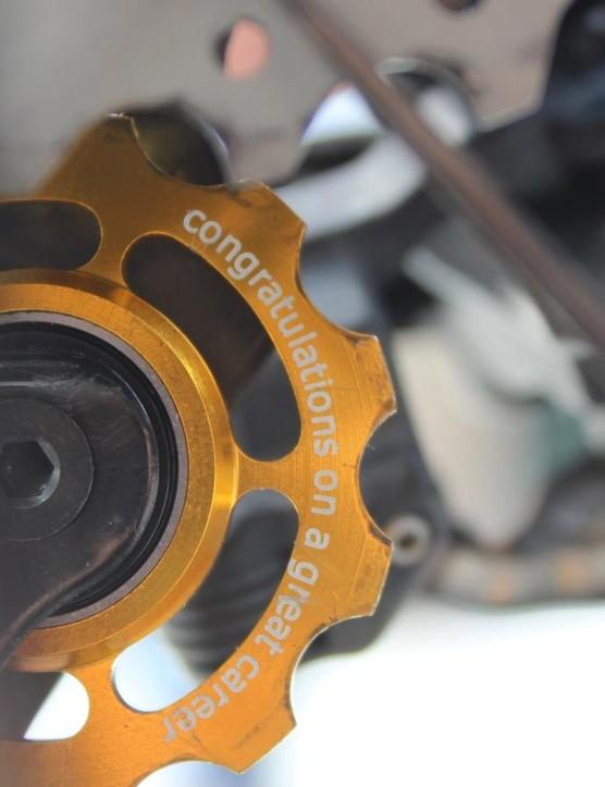 Ceramic Speed make Boonen custom jockey pulleys