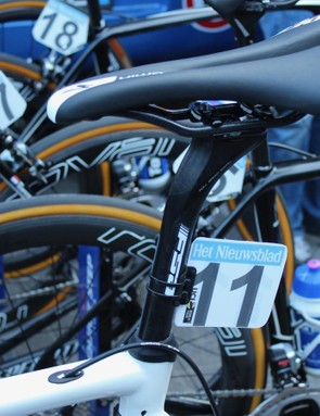 Boonen opted not to use the Roubaix's stock CG-R seatpost