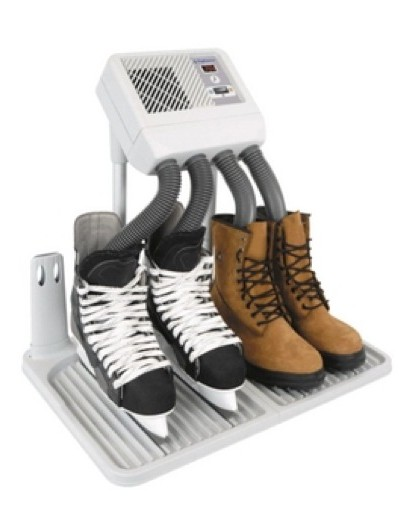 Newspapers are exceedingly handy for drying shoes.... or if you're feeling flush, how about a boot warmer!