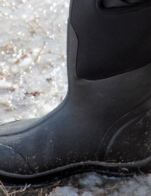 Rubber boots can be invaluable in the pit
