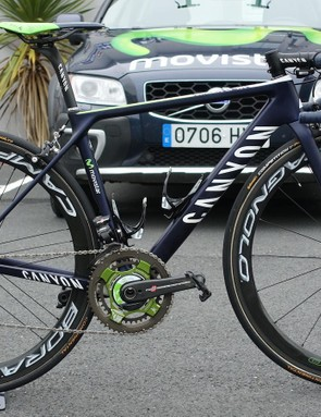Movistar's Nairo Quintana is armed for this year's Tour de France with a set of prototype Campagnolo Bora 50 wheels that feature a new braking surface treatment