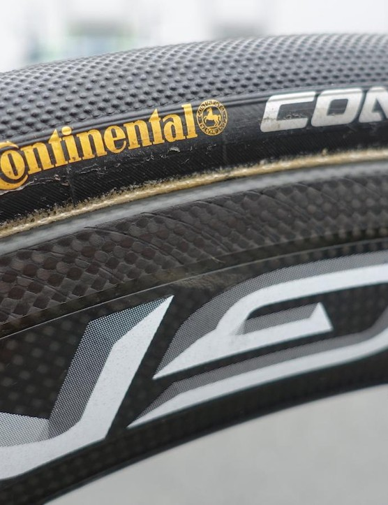 Subtle, semi-circular grooves are meant to improve wet weather braking performance