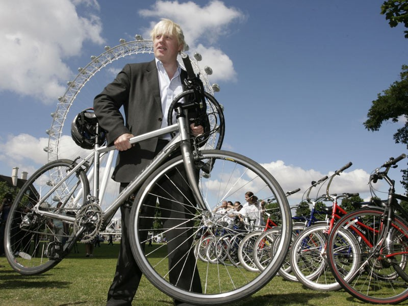 Boris Johnson, encouraged Londoners to dust off their dormant bikes as he launched the capital's 'Summer of Cycling'