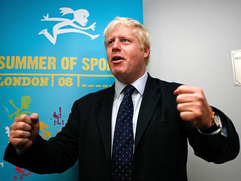 Mayor of London, Boris Johnson opens the Redbridge cycling centre a purpose built training centre on August 19, 2008 in London